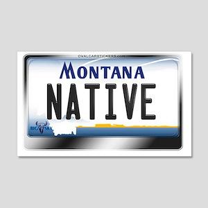 Wall Art Montana License Plate Native Sticker Rectangl